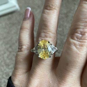 Yellow Citrine Gorgeous Ring